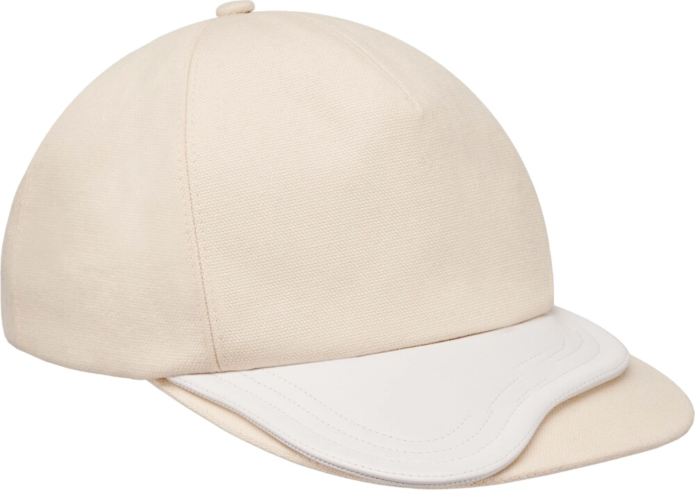 Dior White Cotton Baseball Hat