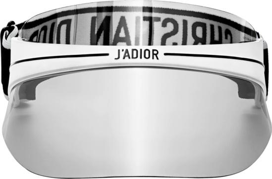 Dior White Diorclub1 Shield Sunglasses