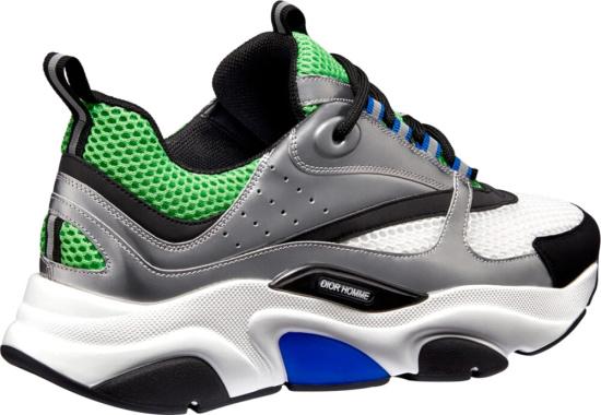 Dior White Green Silver Sneaker
