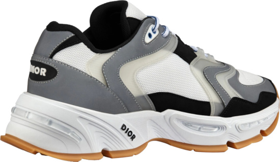 Dior White Grey Cd1 Sneakers