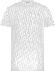 Dior White Mesh Oblique T Shirt