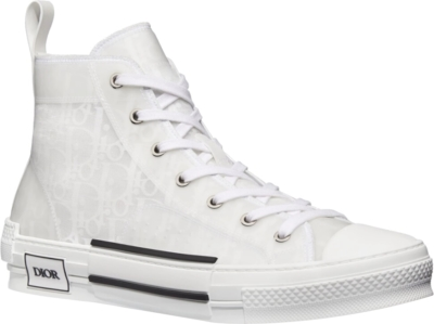 Dior White Oblique High Tops