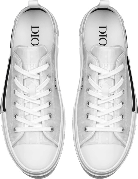 Dior White Oblique Low Top B23 Sneakers