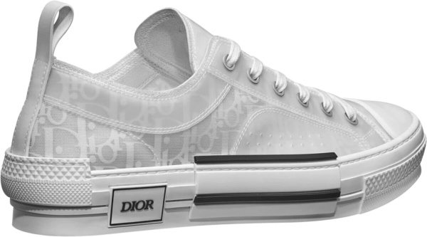 Dior White Oblique Low Top Sneakers