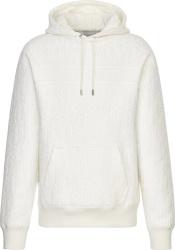 Dior White Oblique Terry Cotton Hoodie