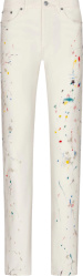 Dior White Paint Splatter Jeans 013d001by997 C070