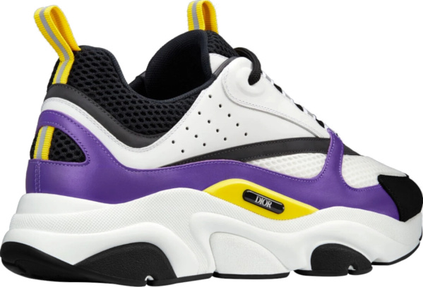 Dior White Purple And Yellow Sneakers