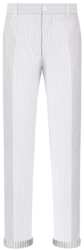 Dior White Sheer Pinstripe Oblique Pants Worn By Lil Uzi Vert