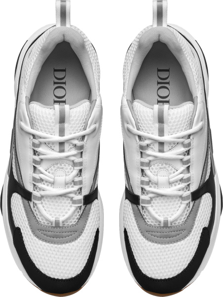 Dior White Silver And Black B22 Sneakers