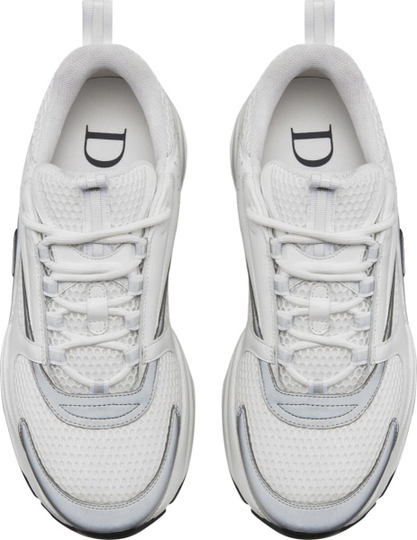 Dior White Silver B22 Sneakers