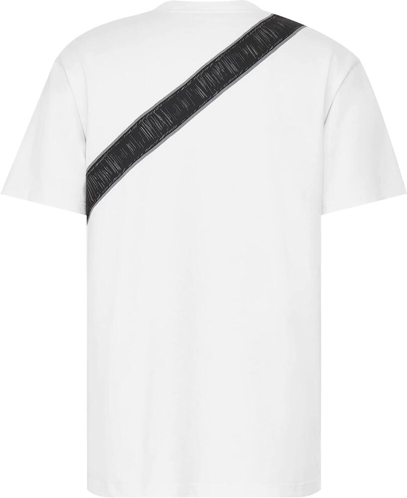 Dior White T Shirt With Saddle Bag Print