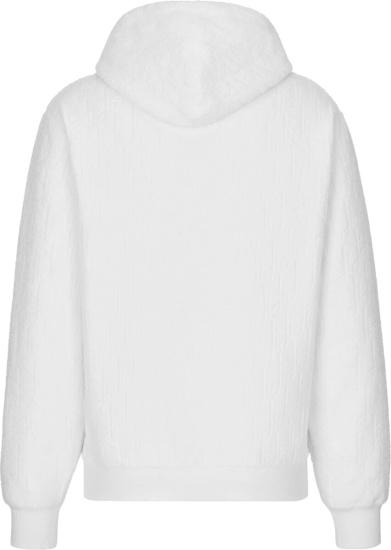 Dior White Terry Oblique Cotton Hoodie