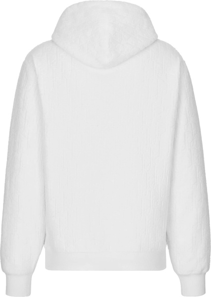 Dior White Terry Oblique Cotton Hoodie