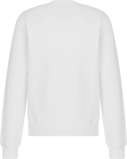 Dior White Yellow Cd Icon Sweatshirt