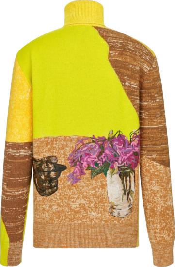 Dior X Amoako Boafo Yellow Turtleneck Sweater
