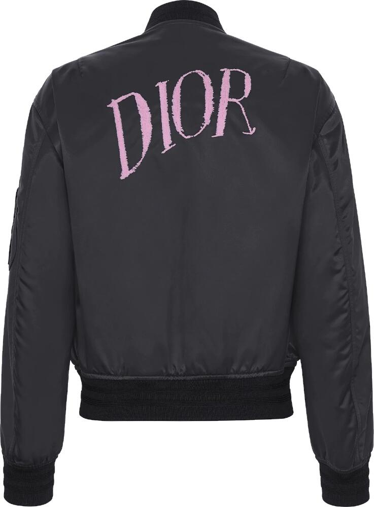Dior X Alex Foxton Black Bomber Jacket