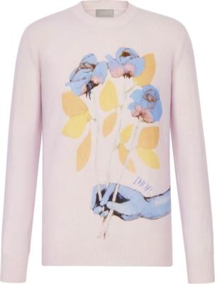 Dior X Alex Foxton Rose Jacquard Pink Hoodie