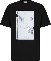 Dior X Daniel Arsham Book Cover Print Black T Shirt