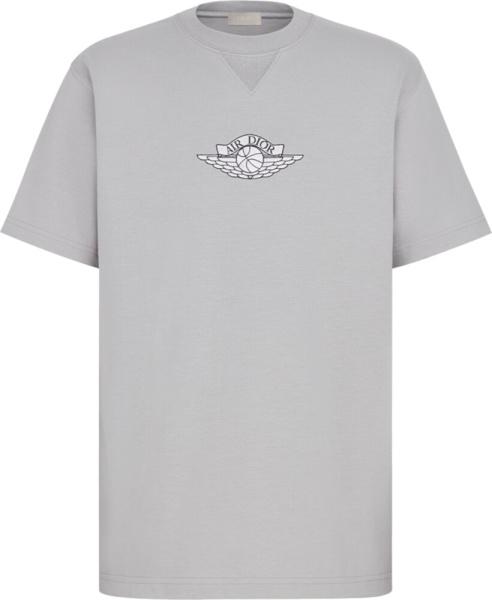 Dior X Jordan Grey Air Dior T Shirt