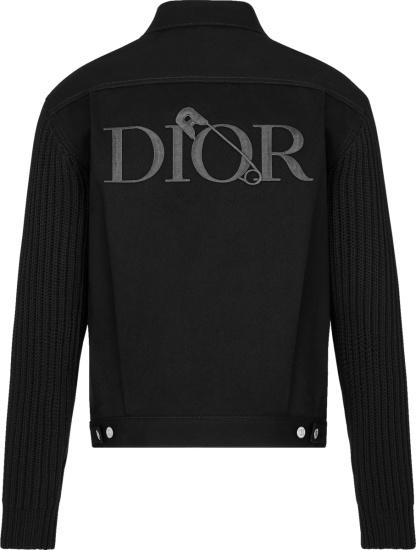 Dior X Judy Blame Black Denim Trucker Jacket