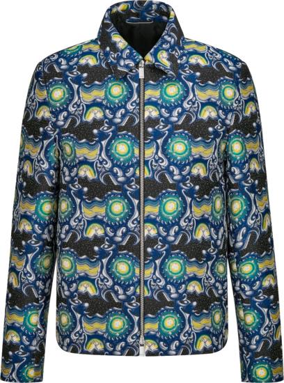 Dior X Kenny Scharf Black And Mulitcolor Psychedelic Zip Jacket