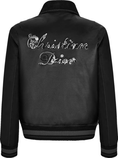Dior X Kenny Scharf Black Leather And Suede Cd Jacket