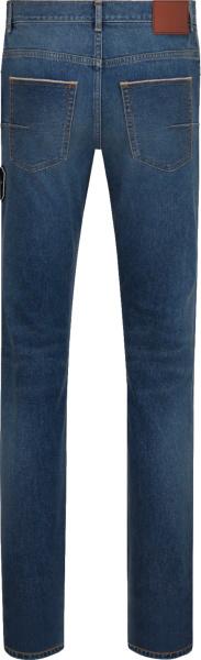 Dior X Kenny Scharf Blue Denim Cd Patch Jeans