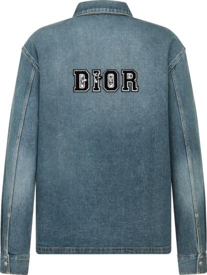 Dior X Kenny Scharf Blue Denim Overshirt