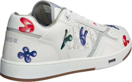 Dior X Kenny Scharf Low Top White Sneakers