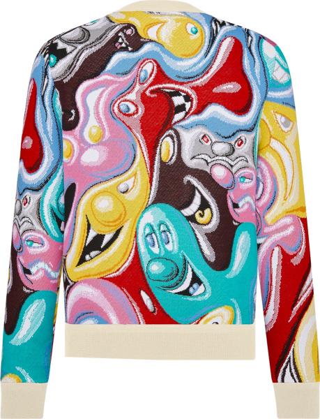 Dior X Kenny Scharf Multicolor Jacquard Cartoon Sweater
