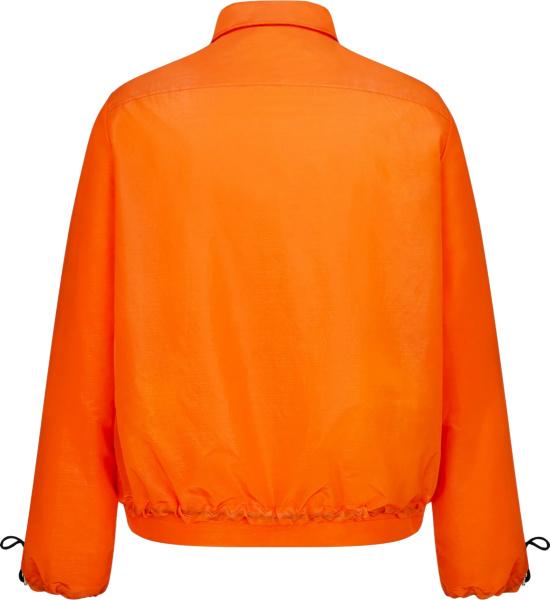 Dior X Kenny Scharf Orange Cd Logo Nylon Jacket