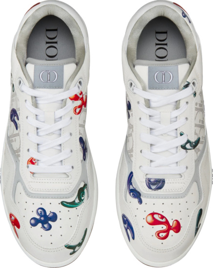 Dior X Kenny Scharf White Oblique B27 Low Top Sneakers