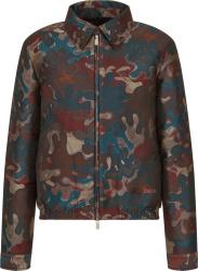 Dior X Peter Doig Burbundy Camoufalge Print Jacket