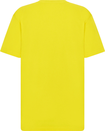 Dior X Peter Doig Yellow And White Logo T Shirt