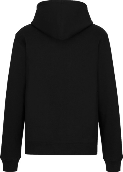 Dior X Shawn Bee Embroidered Black Hoodie