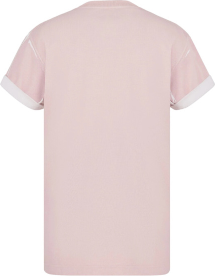 Dior X Shawn Stussy Light Pink T Shirt