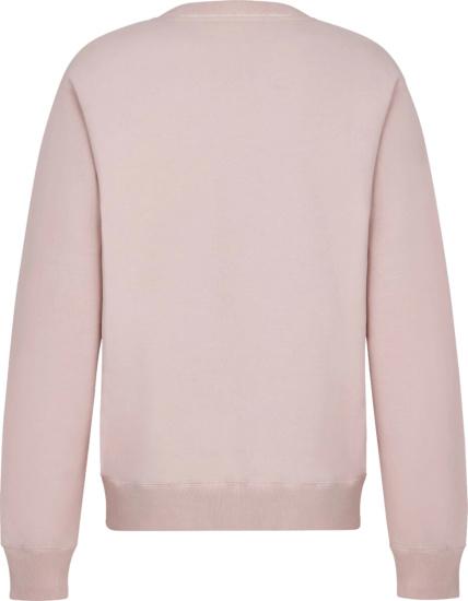 Dior X Shawn Stussy Pink Garment Dyed Sweatshirt