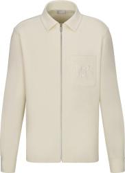 Dior X Shawn Stussy White Ribbed Corduroy Shirt Jacket