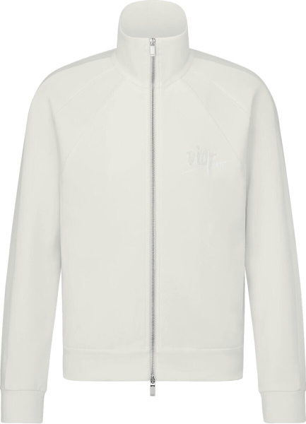 Dior X Shawn Stussy White Zip Track Jacket