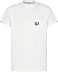 Dior X Shawn White Pocket Bee Embroideted T Shirt
