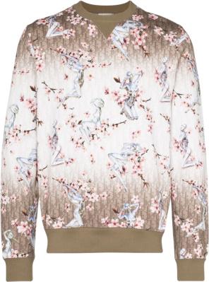 Dior X Sorayama Beige Oblique Sweatshirt