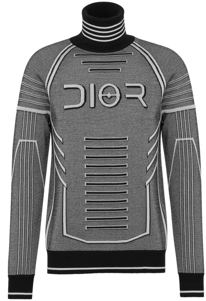 Dior X Sorayama Grey Futuristic Looking Sweater