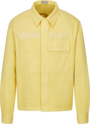 Dior Yellow Denim 1947 Shirt Jacket