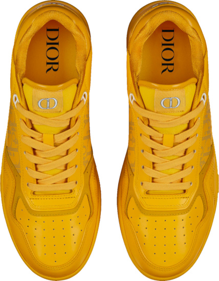 Dior Yellow World Tour B27 Low Top Sneakers