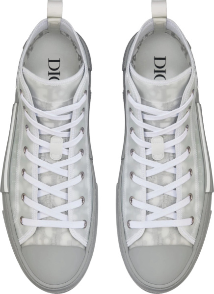 Diro Reflective Grey Oblique High Top B23 Sneakers