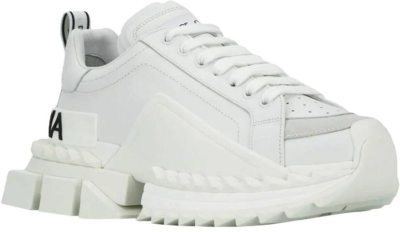 Dolce And Gabbana All White Super King Sneakrs