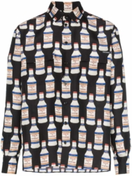 Dolce And Gabbana Allover Vodka Bottle Printed Shrit