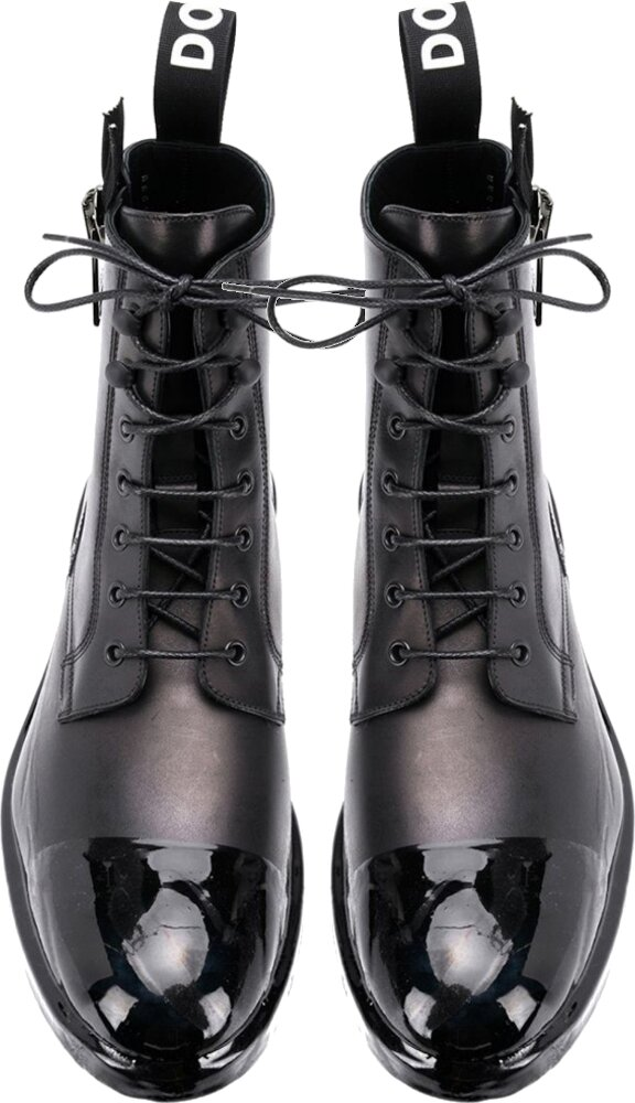Dolce And Gabbana Black Combat Boots