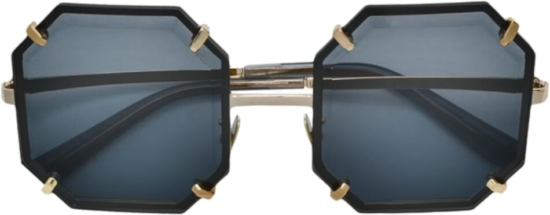 Dolce And Gabbana Black Hexagon Sunglasses
