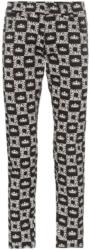 Dolce And Gabbana Black White Logo Print Pants